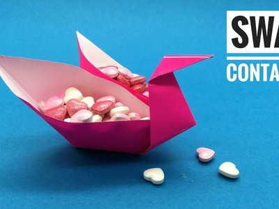Swan Container Box - (Author - Laura Kruskal) - DIY Origami Tutorial by Paper Folds - 701