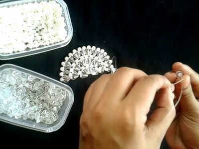 পুতি দিয়ে ব্যাগ তৈরি.অর্ধচন্দ্র ব্যাগ.How to make head bag(1st part).Dry craft beaded