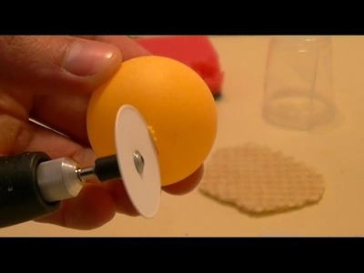 Using Paper to Cut ping pong ball