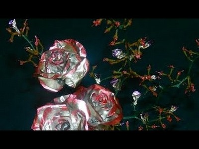 Aluminum foil roses - Beautiful Home Decor
