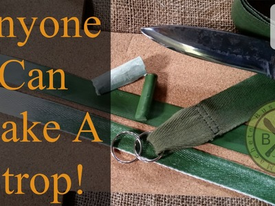 Anyone Can Make A Sharpening Strop, Leather NOT required!