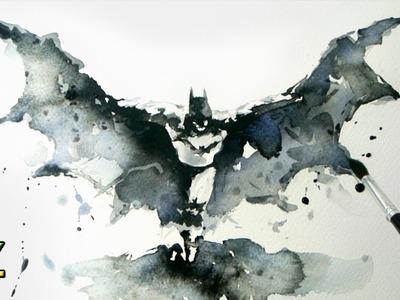 Batman Arkham Knight - Watercolor Painting - Jay Art