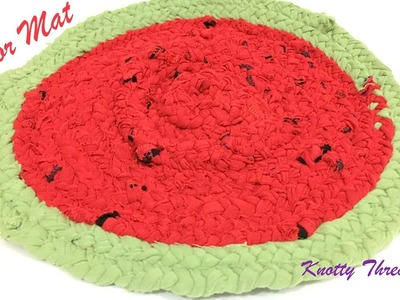 Best out of waste | Make a Door Mat or Floor Mat using Old Clothes | Knotty Threadz