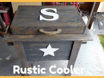 Building A Rustic Cooler From Pallets
