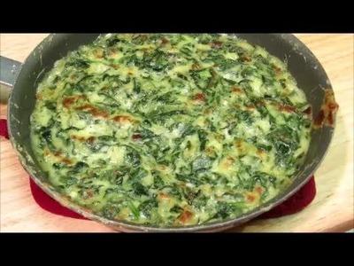 Creamed Spinach Recipe - Spinach Gratin Recipe - Easy Side Dish Recipe