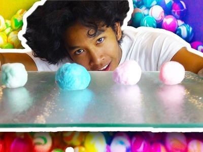 DIY BOUNCY BALLS!!! DROPPING 1000 balls on my Face!!