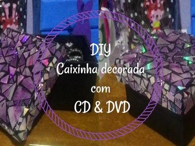 DIY Caixa decorada com CD.DVD