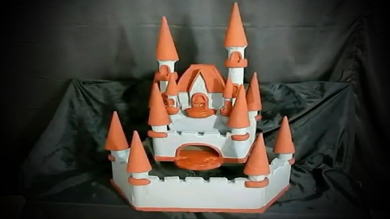 DIY Como fazer uma fonte ornamental estilo Castelo