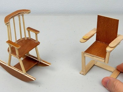 DIY Miniature Wooden Chairs | Simple & Easy Crafts ideas