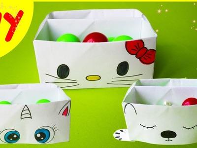 DIY Origami Box Kawaii | Organizer Hello Kitty, My Little Pony, White Bear