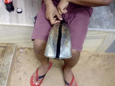 DIY restoration of chrome on mud guard using coke Part 1