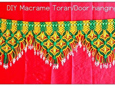 DIY Tutorial of Handmade Macrame Toran Door hanging| Design#3|How to make Macrame Toran|Door hanging