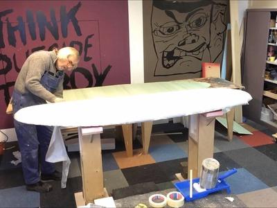DIY windsurfboard part 3; sandwiching the deck, Its so easy