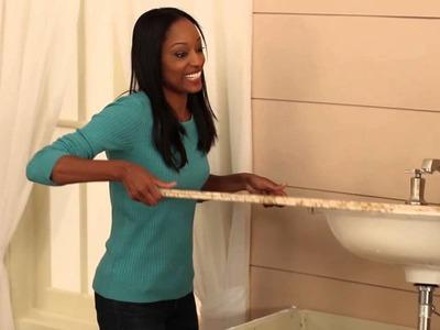 Easy Bath Updates: Part 2 - Install Vanity Top Combo & Faucet