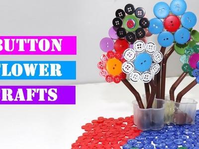 Easy Button Flower Craft | DIY Flower Project
