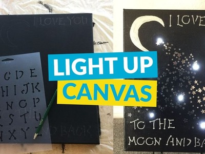Easy Light Up Canvas Art
