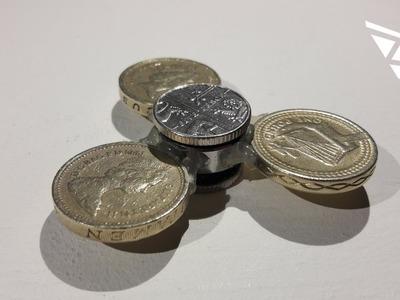 Fidget Spinner Out of Coins (money fidget)