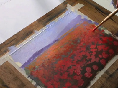 Field of Reds by Julius Legaspi and Caran d'Ache