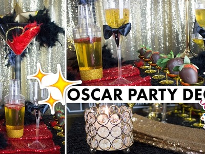 Hollywood Party Theme Oscar Centerpiece Decorations | BalsaCircle.com