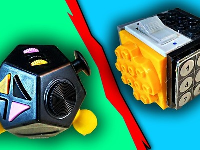 Homemade Lego FIDGET CUBE vs 12 sided FIDGET CUBE