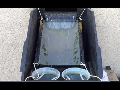 Homemade sieve filter for pond with 3 chamber 1 of 4