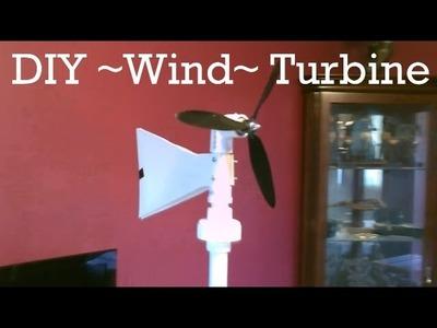 Homemade Wind Turbine Generator! - DIY (swivel-top) Wind Turbine! - Easy DIY - w.wind & power tests