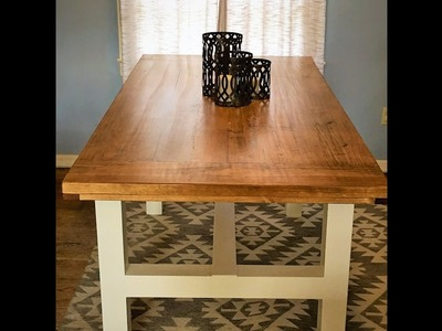 How to build a Farmhouse Table Complete Start to Finish. DIY