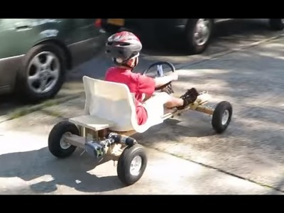 How To Build Homemade Electric Power Drill Go Kart