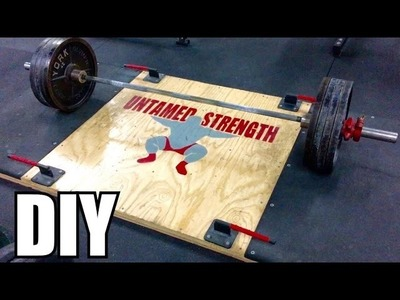 How To Build Your Own Deadlift Platform w. Your Logo