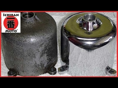 How To Clean and Polish Aluminum and Alloy Metal Engine Polishing on Café Racers or hot rods