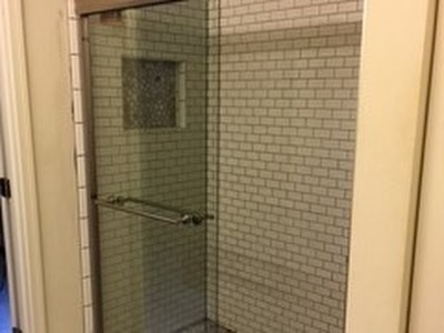How to convert a tub.shower to a walk in shower Part 9