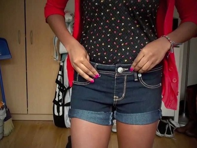 How To: Cut Jeans into Cuffed Jean Shorts