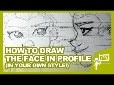 HOW TO DRAW THE FACE IN PROFILE | Tutorial | DrawingWiffWaffles