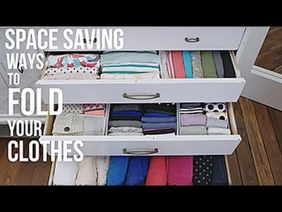 How to Fold Your Clothes to Save Space - HGTV