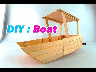How to make a boat using popsicle