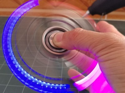 How To Make a Led hand SPINNER Fidget Toy at home - Very cheap - Cost 3$ Dola