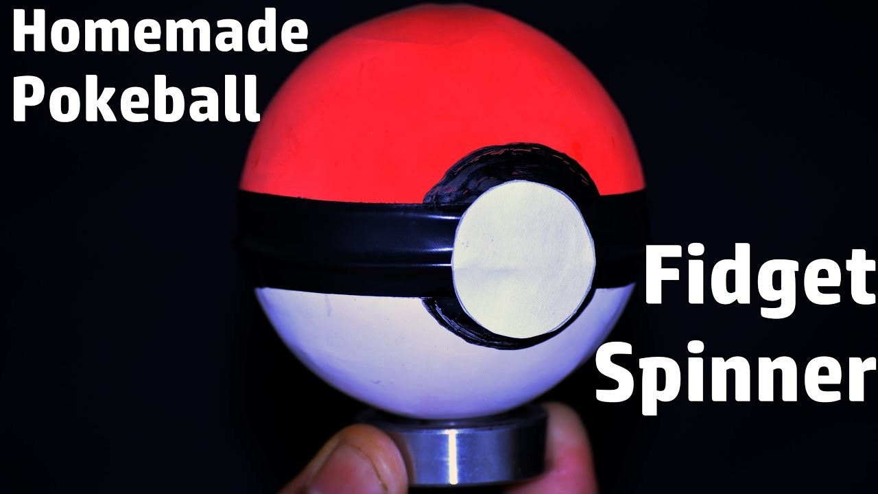 How to Make a POKEBALL Fidget Spinner | Easy & Simple Homemade Fidget spinner