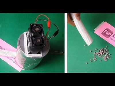 How to make a Powerful mini VACUUM CLEANER out of Junk