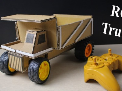 How to make a Rc Truck at home - Car Remote Control using Cardboard (Electric Truck)