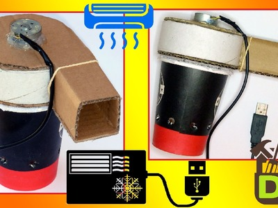 █ How to Make a USB Handheld Air Conditioner at home █