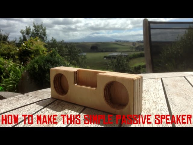 ????How to make a wooden passive speaker ????004????