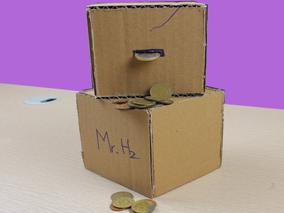 """How to make """"Crazy"""" Safe Coin Bank from cardboard"""