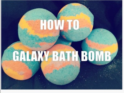How to make galaxy bath bombs that actually look good. Float + foam + DEMO