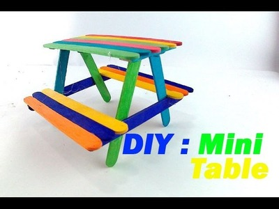 How to make mini park bench with popsicle sticks