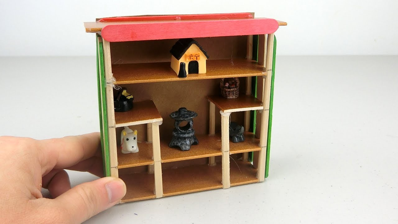 How to make Miniature Closet DIY for Dollhouse | Popsicle Stick Crafts ideas
