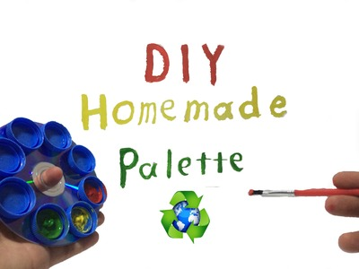 How To Make Painting Palette From Trash (DIY Homemade CD & Bottlecap Palette )