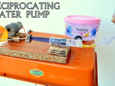 How to Make Reciprocating Pump - A Science Project at Home
