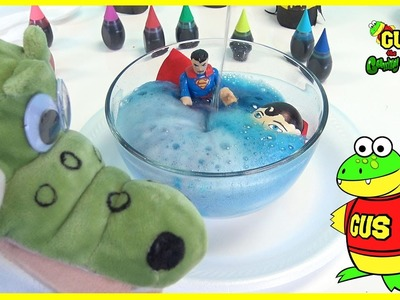 How To Make Volcano Eggs Spiderman Batman Superman! Kids Science Experiment Baking Soda and Vinegar