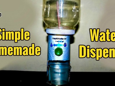 How to make Water Dispenser at Home that Working using Plastic Bottle - Low cost DIY Projects