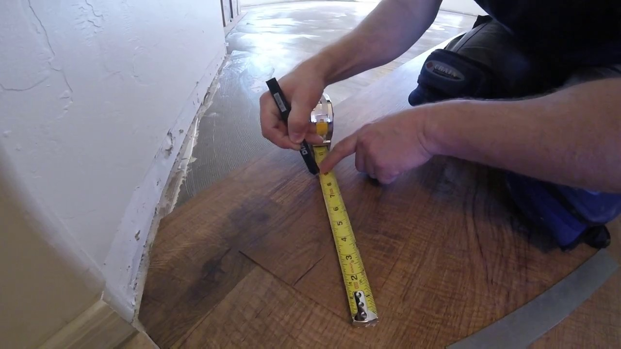 HOW TO MEASURE AND CUT ANGLES ON LVP FLOORING